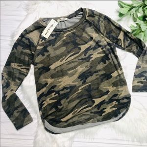 Mikey and Joey long-sleeved camouflage top